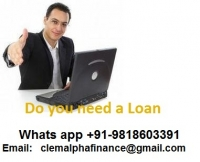 Guarantee online loan offer! We are online loans lender. That is permitted to give out guarantee loan online. If you worried about qualifying for a personal, business or car loan? Perhaps bad credit record? . Contact us today we make online transaction within 48 hours! . No face to face interview. For more information e-mail clemalphafinance@gmail. Com : +91-9818603391
