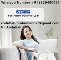 Finance quick loan offer amount from $3000 to $50,000,000 apply now We give out loans within 1 year to 20 years maximum repayment plan. whatspp Number +918929490461  abdullahibrahimlender@gmail.com low interest rate of 2%. Mr Abdullah Ibrahim